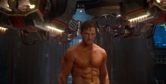 ***SUNDAY CALENDAR SNEAKS FOR APRIL 27, 2014.Scene from the movie Marvel's Guardians Of The Galaxy Peter Quill/Star-Lord (Chris Pratt) Ph: Film Frame ©Marvel 2014