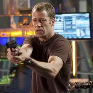 "EUREKA -- Episode 505 ""Jack of All Trades"" -- Pictured: (l-r) Colin Ferguson as Sheriff Jack Carter, Salli Richardson-Whitfield as Allison Blake -- (Photo by: David Gray/Syfy)"