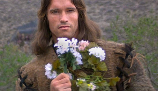 Conan with flowers